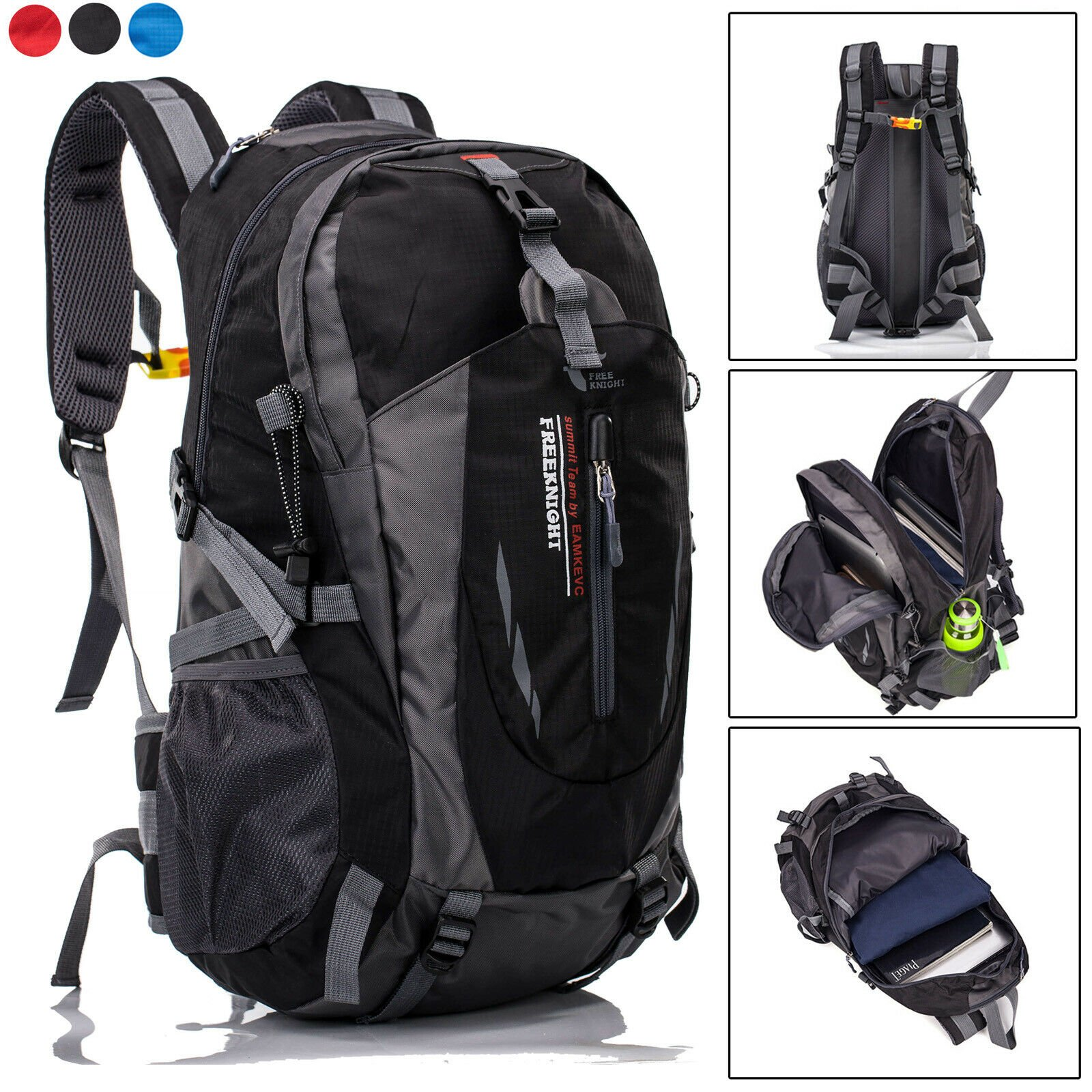 "40L Hiking Backpack Waterproof Outdoor Camping Daypack 15.6"" Laptop Sh..."