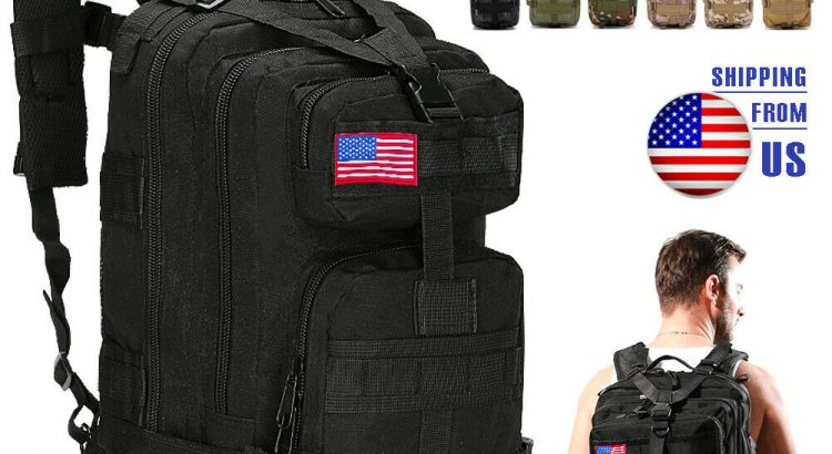 40L Military Molle Tactical Backpack Rucksack Camping Hiking Bag Outdo...