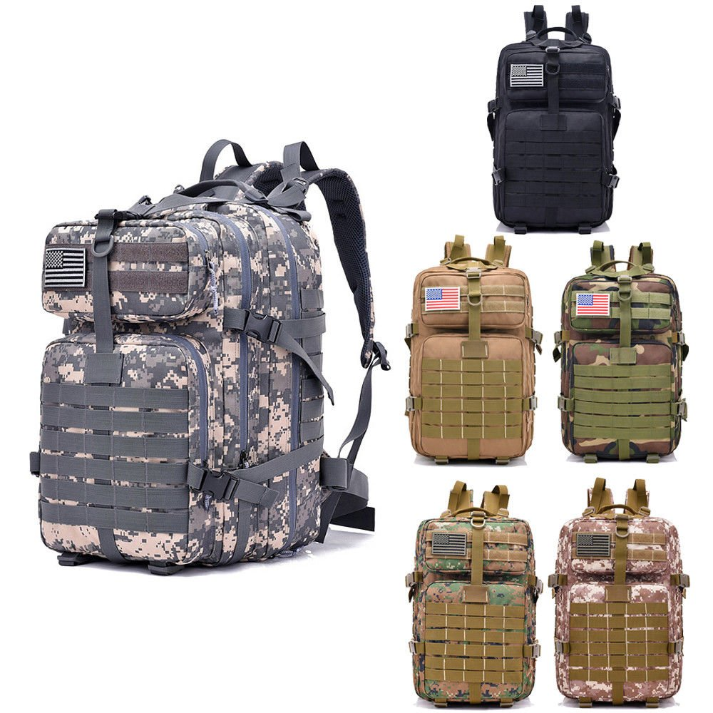 40L Outdoor Hiking Camping Backpack Neutral Military Tactical Rucksack...