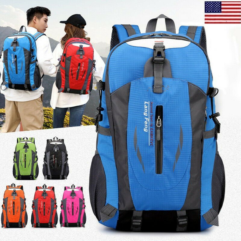 40L Waterproof Hiking Backpack Travel Camping Bag Sport Daypack USA