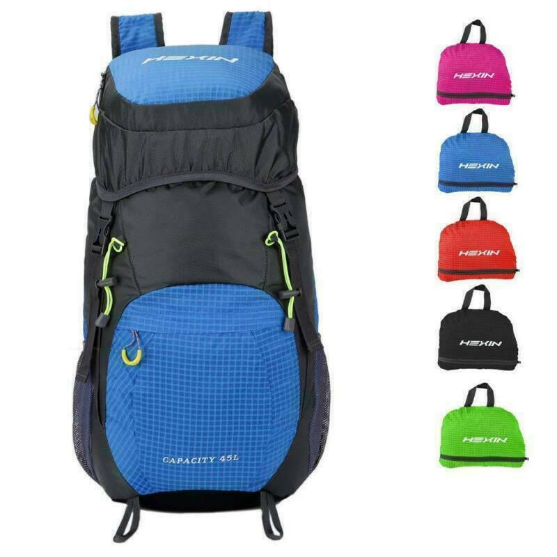 45L Lightweight Foldable Backpack Waterproof Daypack Bag Travel Campin...