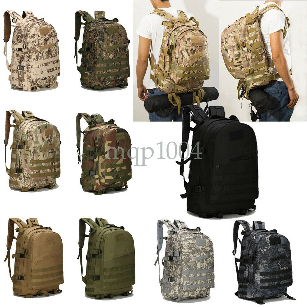 46L Sport Outdoor Military Rucksacks Tactical Molle Backpack Camping H...