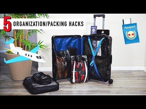 5 ORGANIZATION & PACKING TRAVEL TIPS for CLOTHING and SNEAKERS! | ...