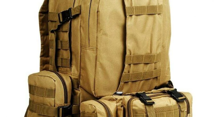 55L Molle Military Tactical Backpack Outdoor Camping Hiking Travel Bag...