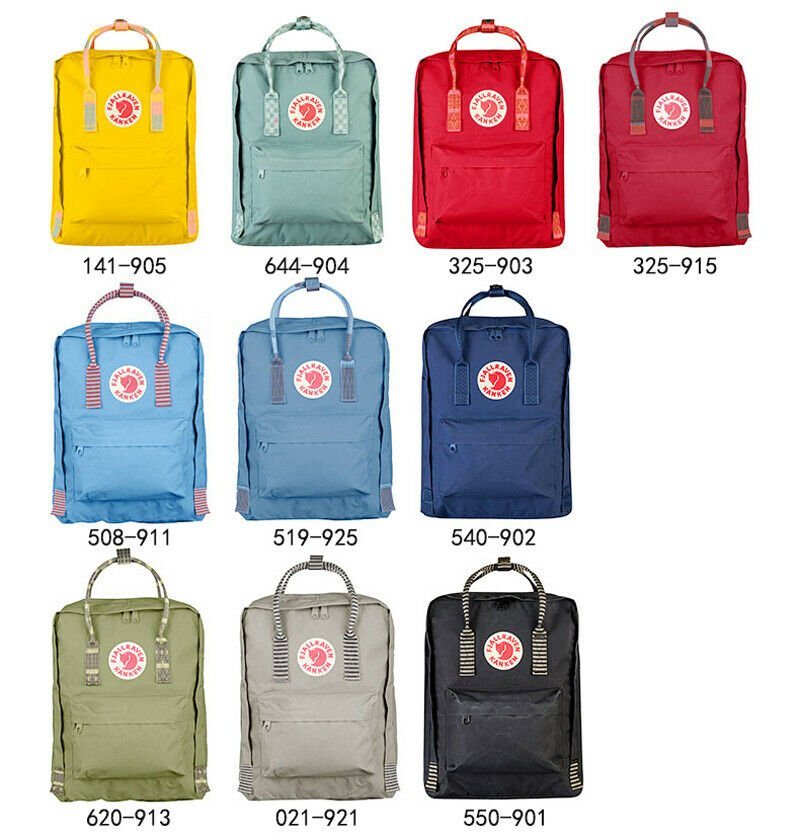 7L/16L/20L Fjallraven Kanken Backpack Art Canvas Sport Shoulder Bag Ha...
