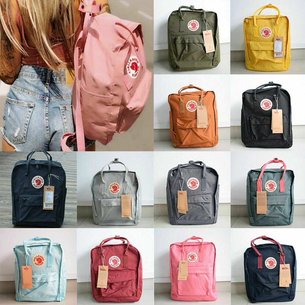 7L/16L/20L Fjallraven Kanken Backpack School Shoulder Bag Travel Rucks...