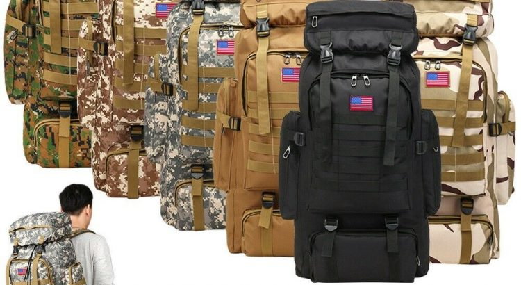80L Outdoor Military Molle Tactical Backpack Rucksack Camping Bag Trav...