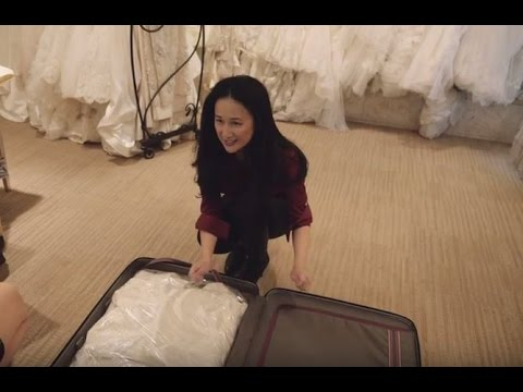 Alaska Airlines travel tips: Packing your wedding dress in checked lug...