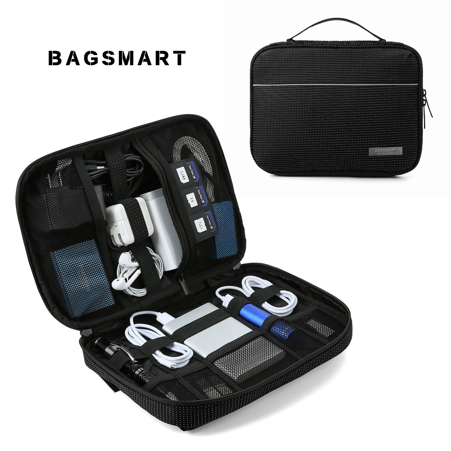 BAGSMART Electronic Accessories Travel Organizer Cases Storage Cable H...