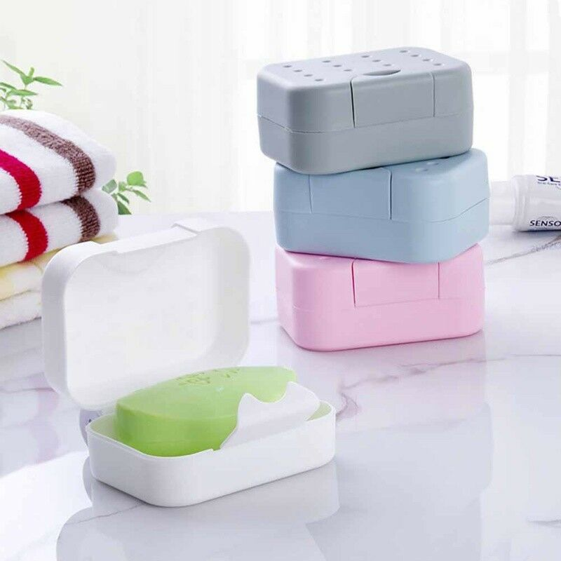 Bathroom Shower Travel Hiking Portable Soap Box Dish Plate Holder Case...