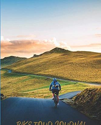 """Bike Tour Journal: 6"""" x 9"""" College Ruled Lined Notebook - Bike Tour Journal 6 x 9 College Ruled Lined Notebook 333x410"""