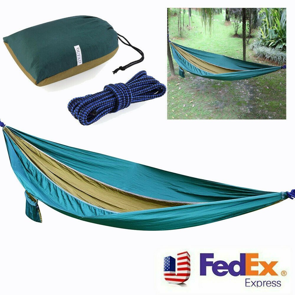 Camping Hammock Double Two 2 Person Parachute Tent Hiking Travel Outdo...