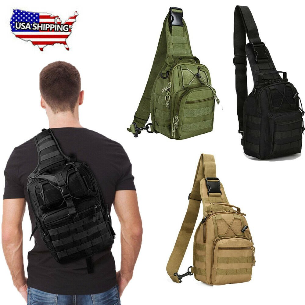 Camping Hiking Backpack Rucksack Hunting Travel Military Tactical Shou...