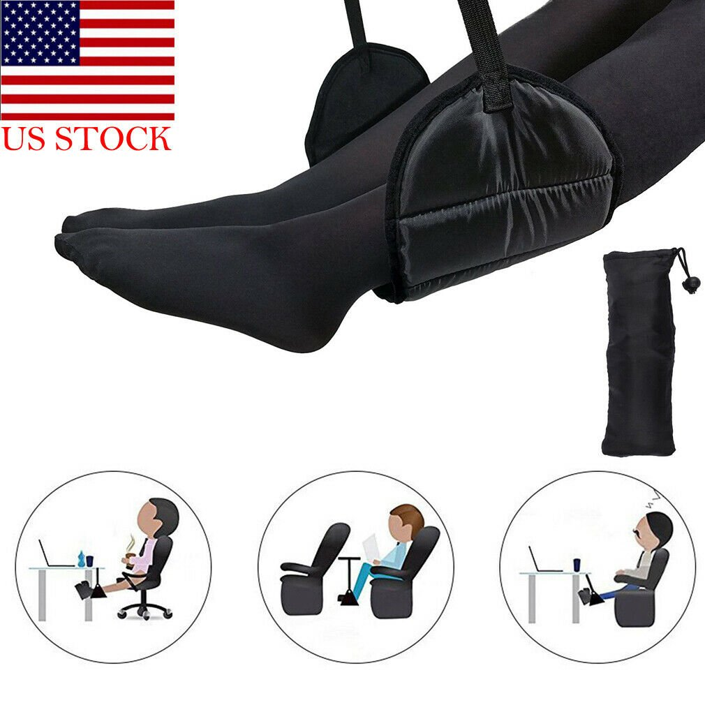 Comfy Hanger Travel Airplane Footrest Hammock Made with Premium Memory...