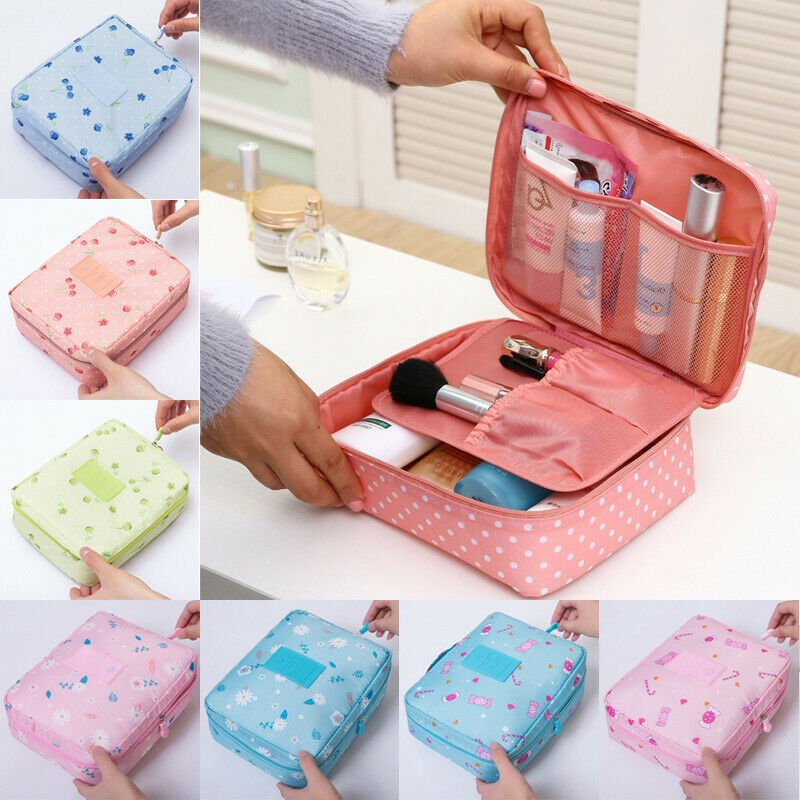 Cosmetic Makeup Bag Toiletry Case Hanging Pouch Wash Organizer Storage...