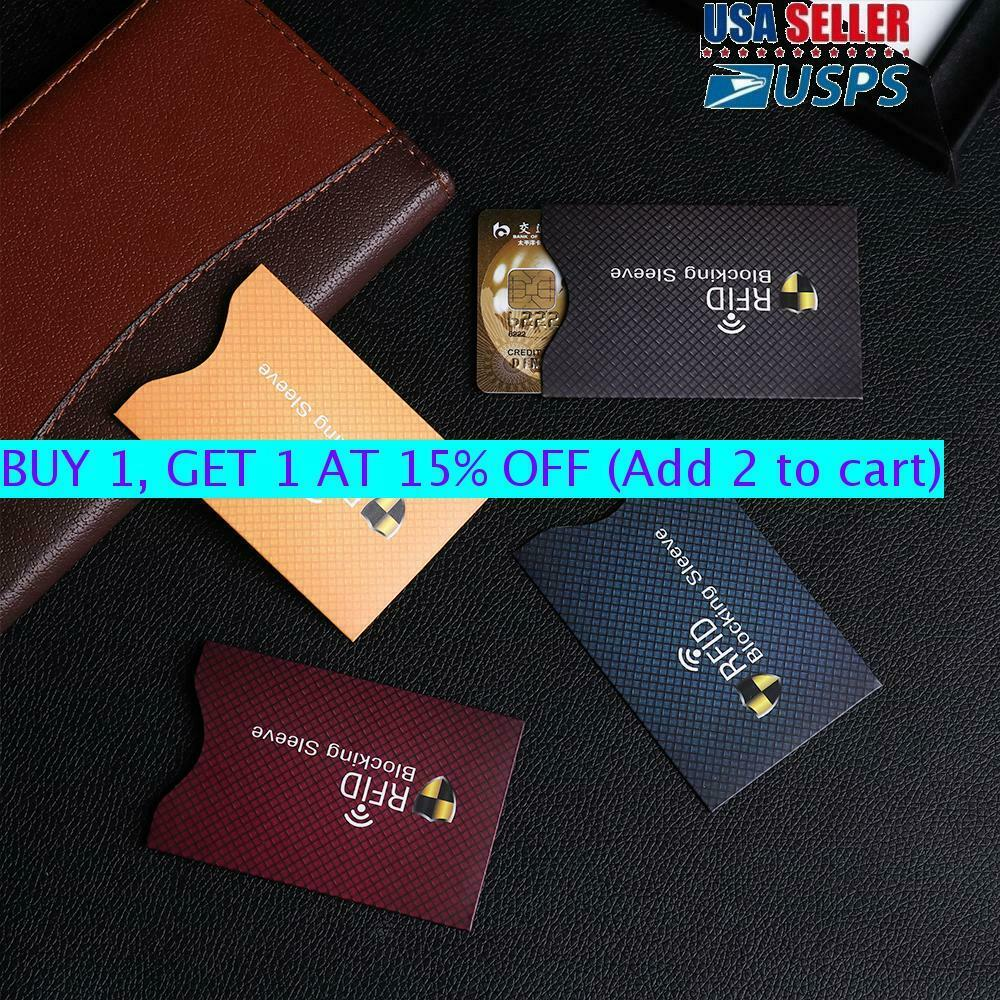Credit Cards RFID Blocking Card Holder Sleeve Wallet Protect Case Cove...