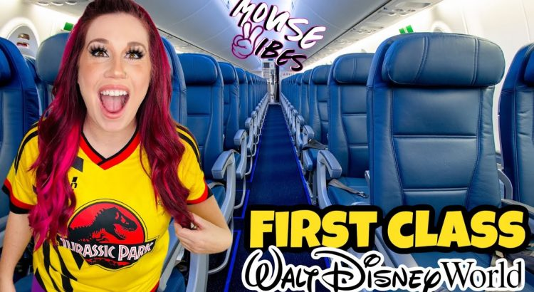 FIRST CLASS TO DISNEY WORLD?? Our Travel Experience | Mouse Vibes