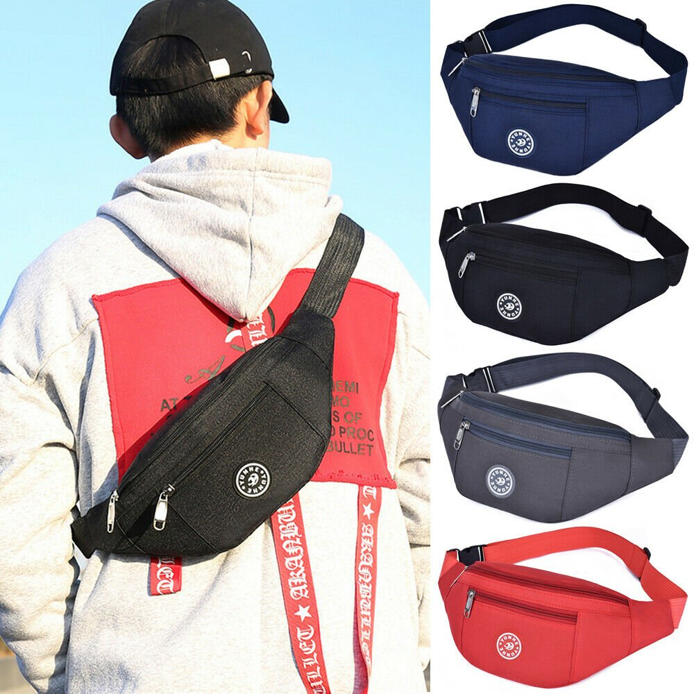 Fanny Pack Waist Bag Men Women Crossbody Hip Belt Pouch Pocket Travel ...