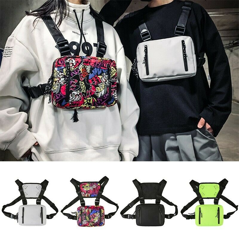 Fashion Tactical Chest Rig Bag Nylon Pouch Outdoor Sport Leisure Hikin...