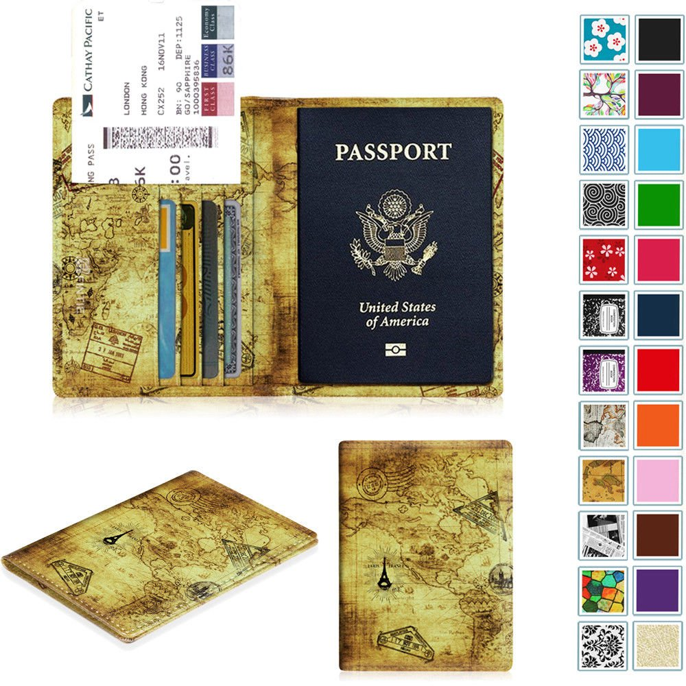 Fintie Slim Travel Wallet Passport Holder RFID Blocking Cards Case Cov...