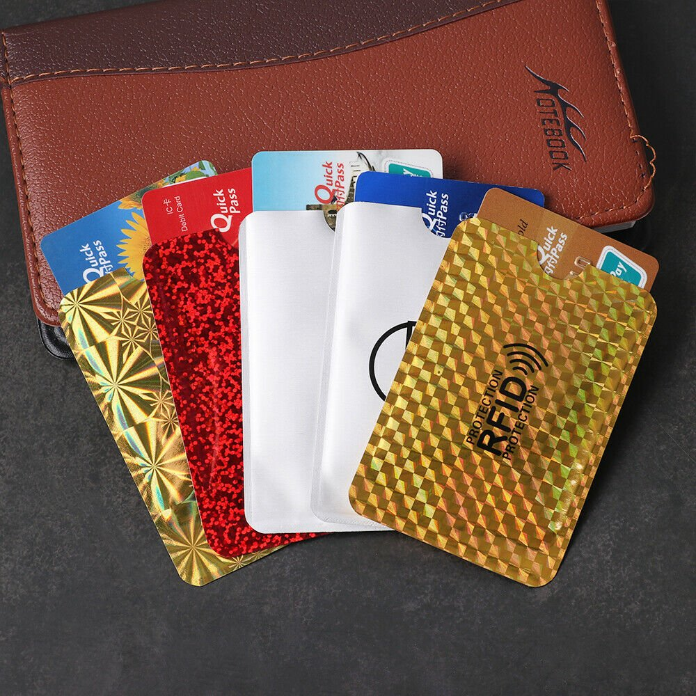 Foil  Protection Anti-theft Case Shielding Bags Card Holder Bank Cards...
