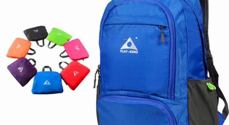 Foldable Unisex Outdoor Travel Hiking Backpack Bag Light Durable Water...