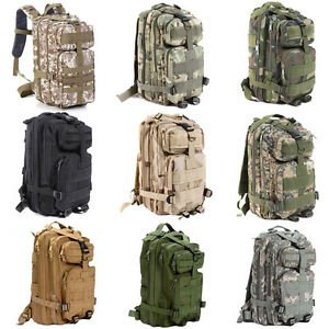 Hiking Camping Bag Army Military Tactical Trekking Rucksack Backpack C...