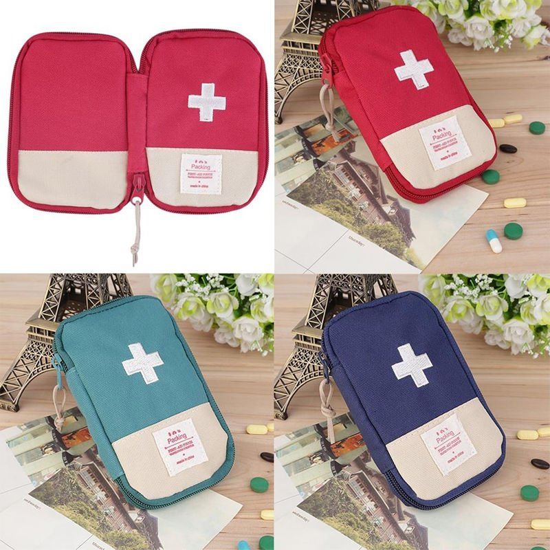 Hiking Survival Travel Emergency Portable First Aid Kit Bag Small Medi...
