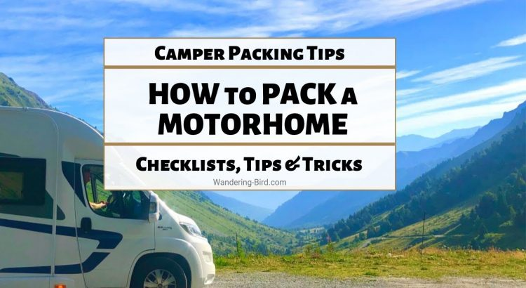How to pack a motorhome- RV organization tips for beginners   Packing ...