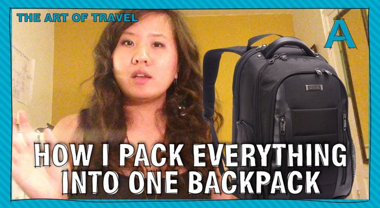 How to pack everything into one backpack (for vacation) | ARTiculation...