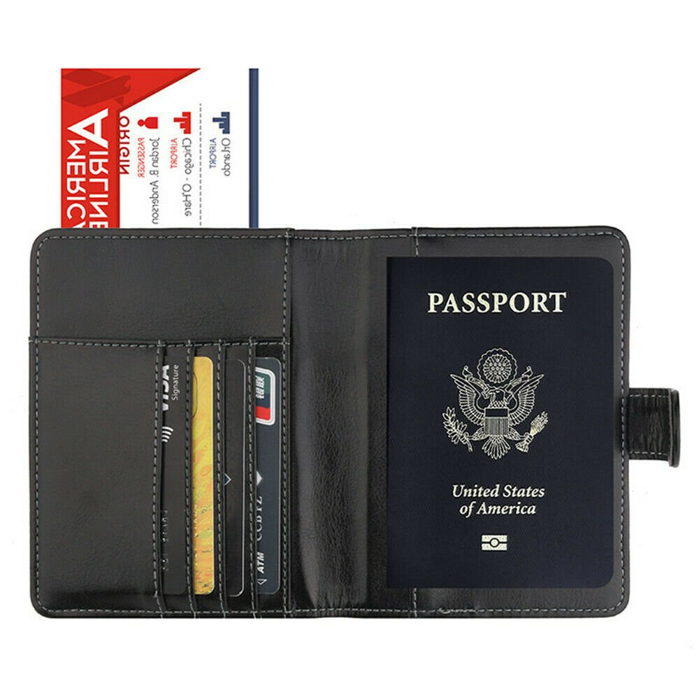 ID Case Passport Cover Passport Holder Travel Cover Case Bag Protect...
