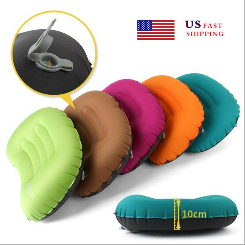 Inflatable Travel Pillow Head Rest Cushion Inflatable Pillow for Camp...