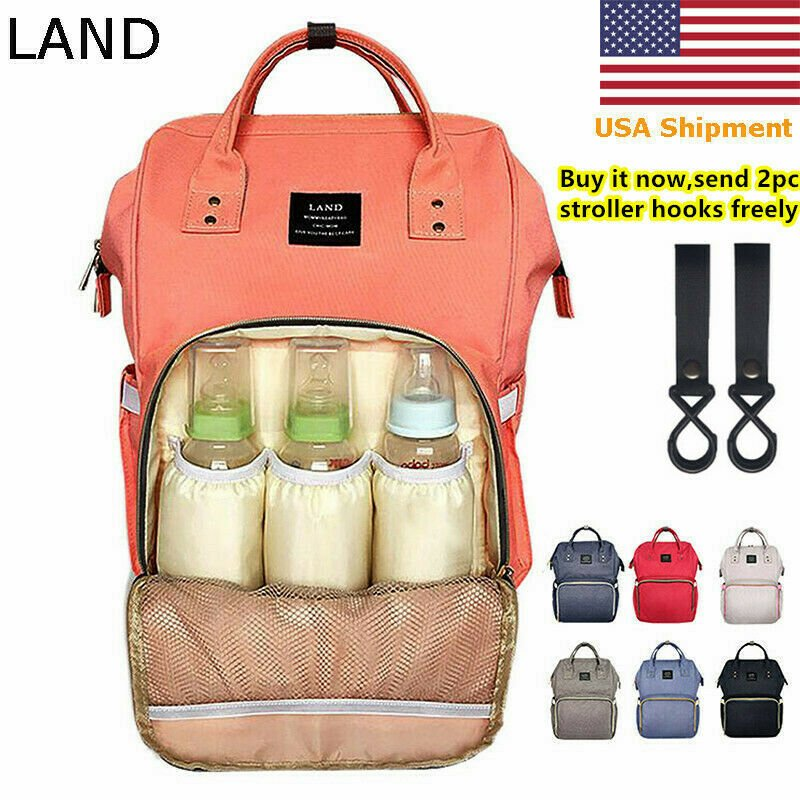 LAND Nappy Diaper Mummy Bag Multifunction Travel waterproof Large Baby...