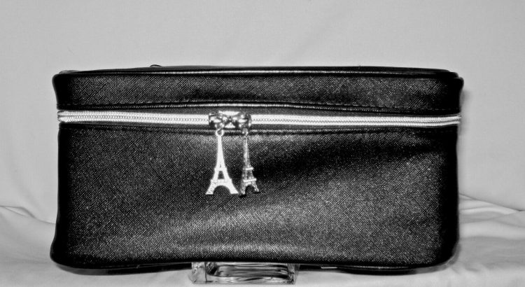 Lancome Black Makeup Train Case  Eiffel Tower - Grate for Travel
