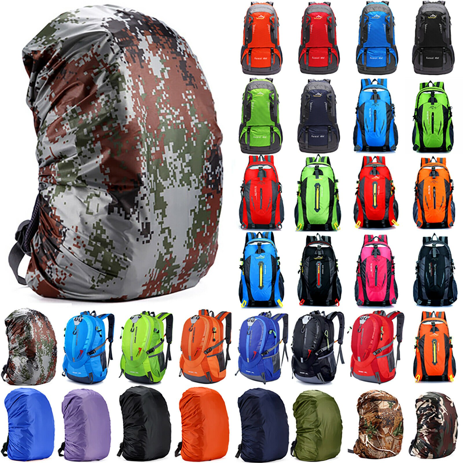 Large Backpack Rucksack Hiking Outdoor Camping Travel Day Pack Climbin...
