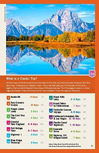 Lonely Planet USA's Most Useful Trips (Trips Country) - Lonely Planet USAs Best Trips Trips Country
