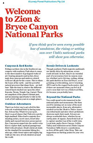 Lonely Planet Zion & Bryce Canyon Nationwide Parks - Lonely Planet Zion Bryce Canyon National Parks