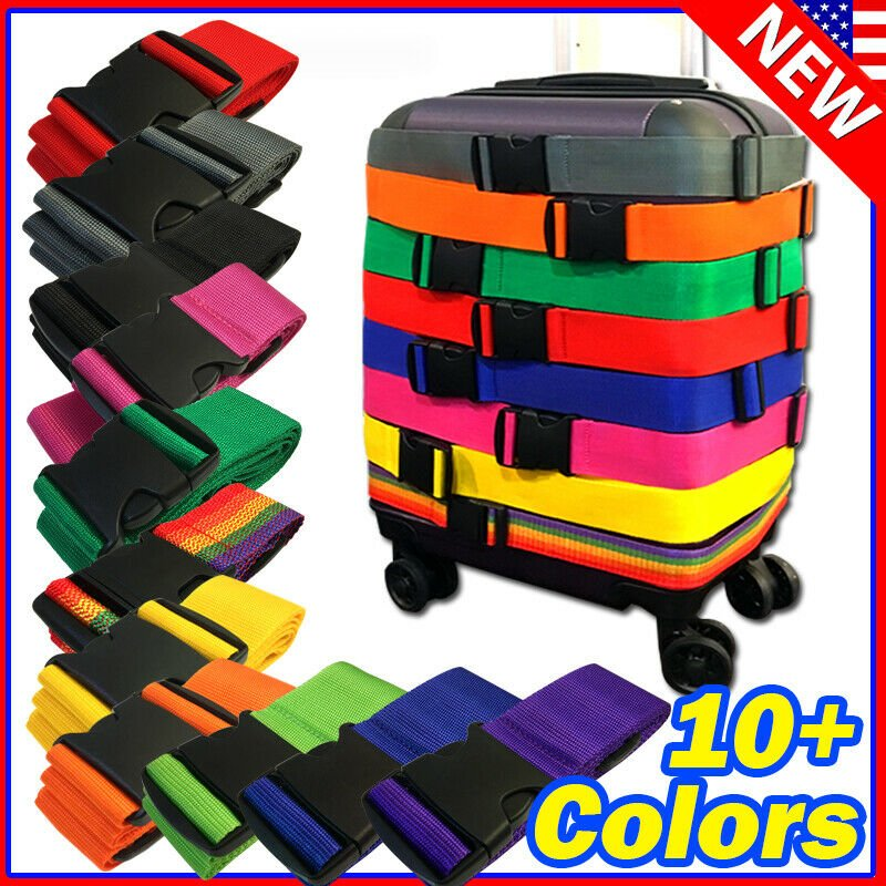Lot Travel Luggage Suitcase Strap Belt Baggage Backpack Bag Package TS...