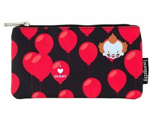 Loungefly IT Movie Pennywise Pencil Case Makeup Pouch Travel Bag NEW