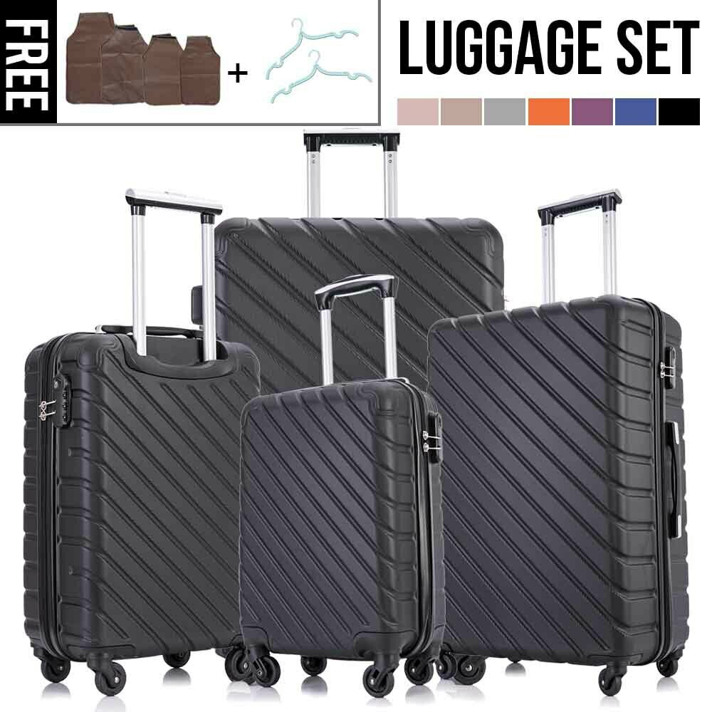 Luggage Travel Set Bag ABS Trolley 360° Spinner Carry On Suitcase with...