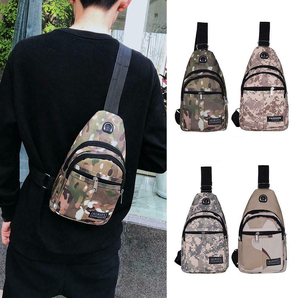 Men Canvas Bag Pack Travel Hiking Cross Body Messenger Shoulder Sling ...