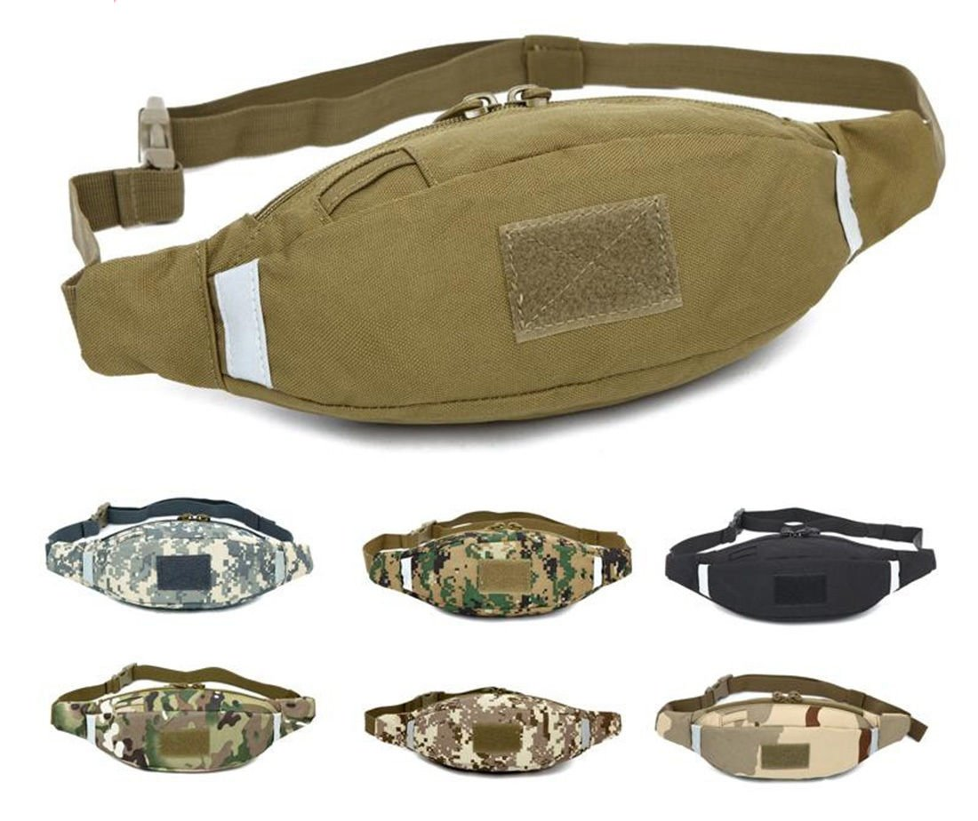 Men Nylon Waist Fanny Pack Hip Bum Tactical Military Travel Hiking Run...