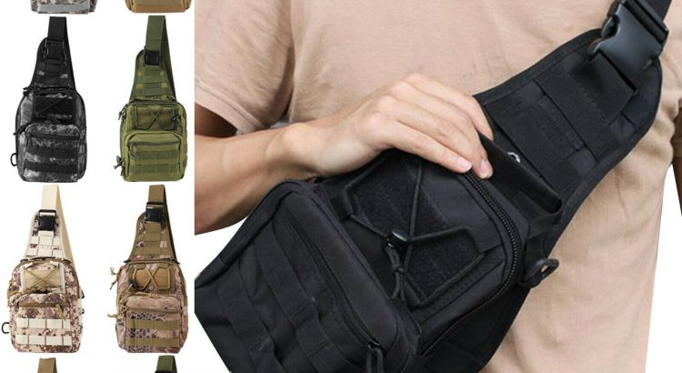 Men Outdoor Tactical Backpack Molle Chest Bag Assault Pack for Hiking ...