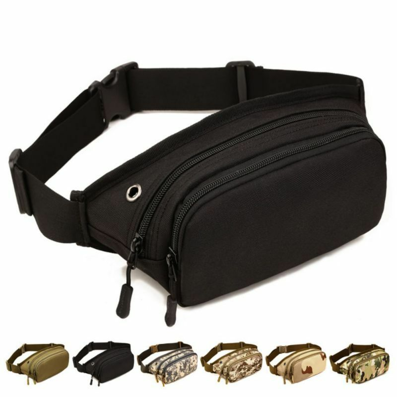 Men Tactical Military Sports Waist Bum Fanny Pack Travel Hiking Runnin...