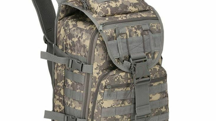 Men's Large Capacity Military Rucksack School Hiking Tactical Backpack...