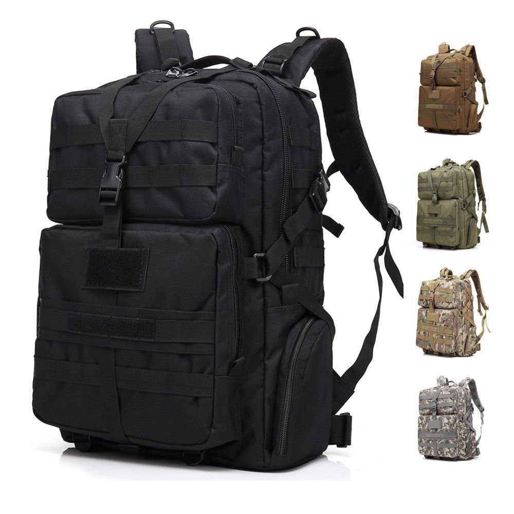 Military Tactical Backpack Army Assault Bag Rucksack Sports 45L Large ...