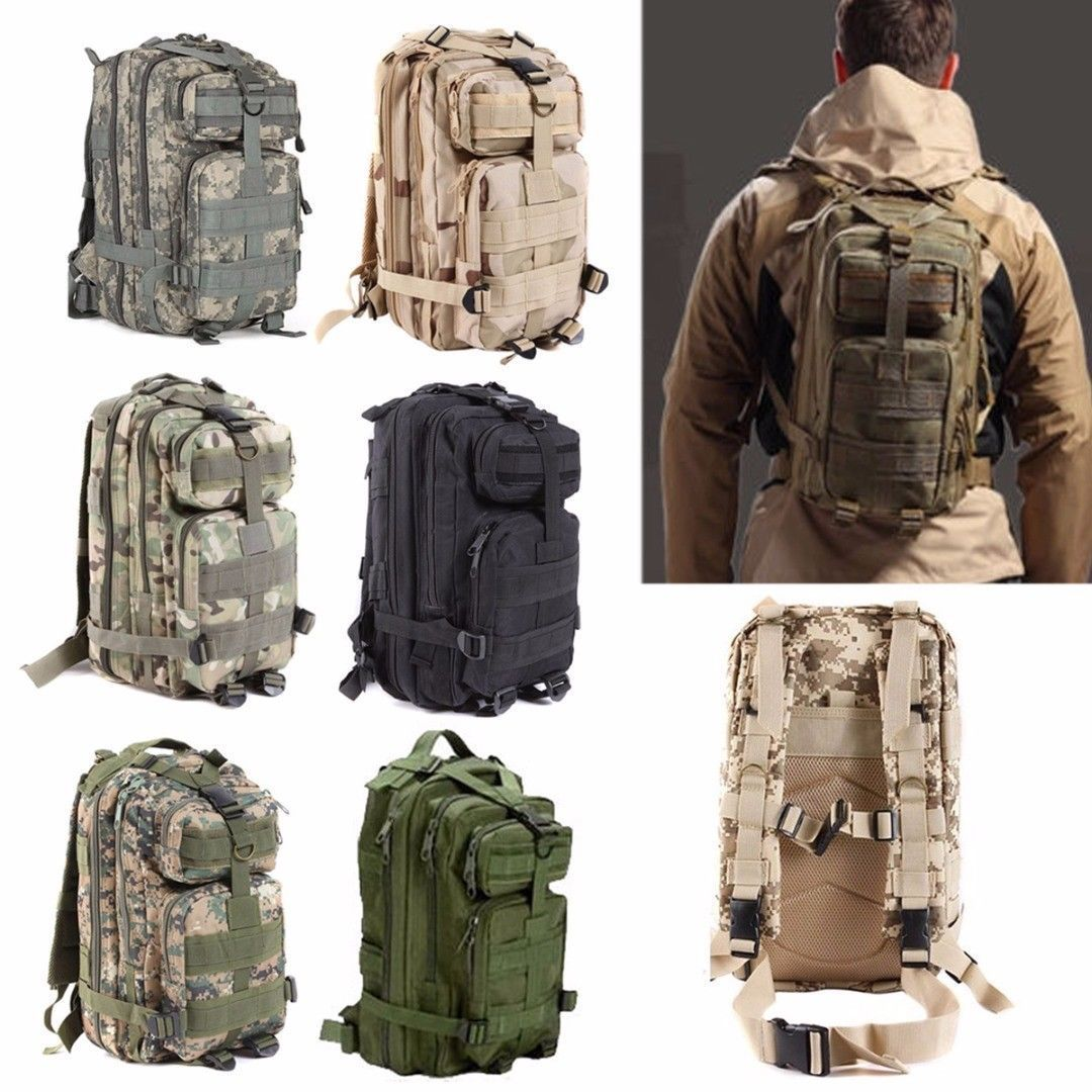 Military Tactical Backpack Hiking Trekking Camping Travel Bag Rucksack...
