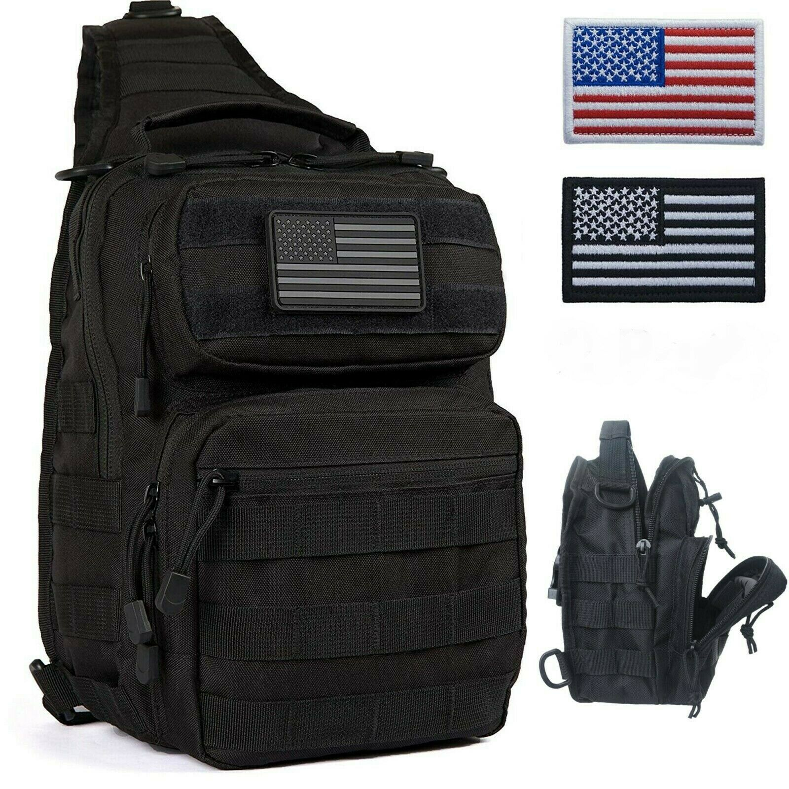 Military Tactical Backpack Molle Sling Bag Traveling Hiking Trekking C...