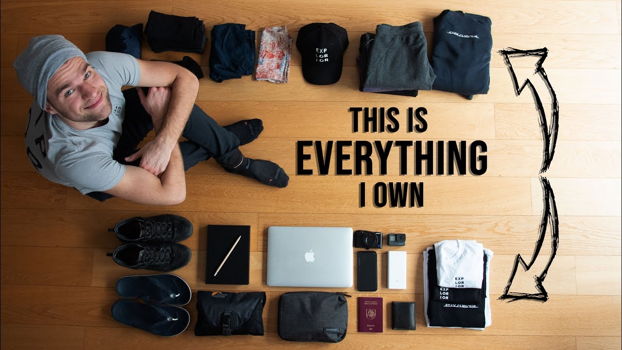 Minimalist Packing for 5 YEARS OF TRAVELING | Golden Packing Rule