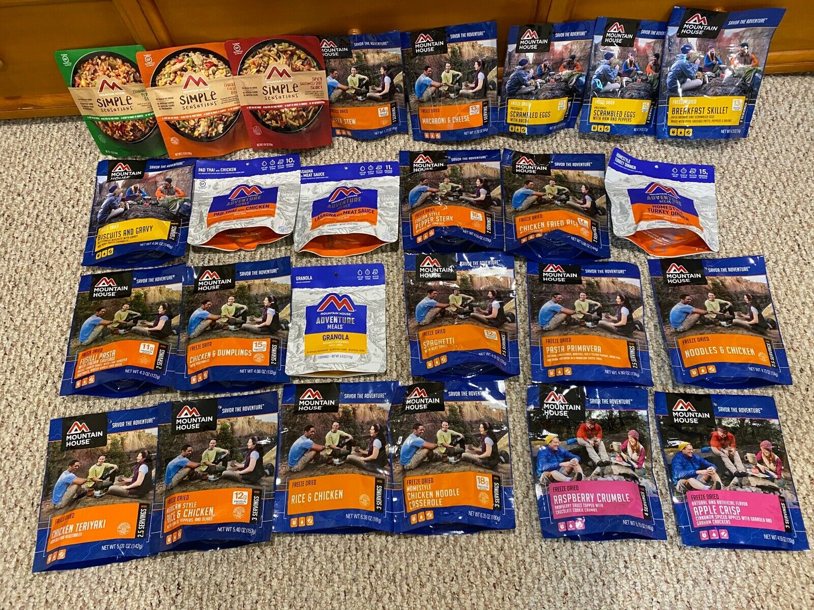Mountain House Meals, Freeze Dried, Camping, Backpacking, Emergency Pr...